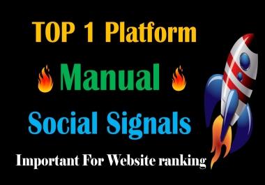 Top 1 Platform 20,000 Social Signals Network backlink SEO bookmarks Boost Website Google Ranking