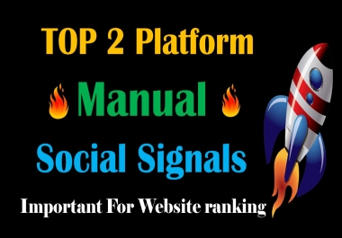 Top 2 Platform 10,000 Social Signals Network backlink SEO bookmarks Boost Website Google Ranking