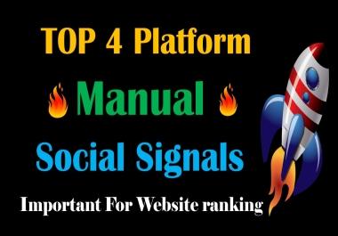 Top 4 Platform 20,000 Social Signals Network backlink SEO bookmarks Boost Website Google Ranking