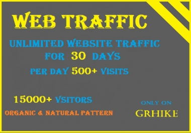 Drive 500+ per day Visitors to your website for 30 days