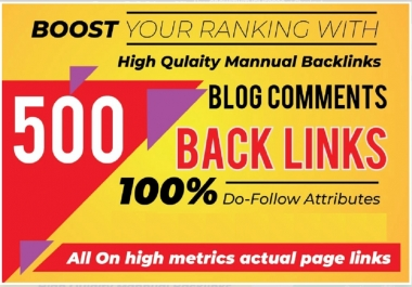 I will do 500 manually high da blog commenting