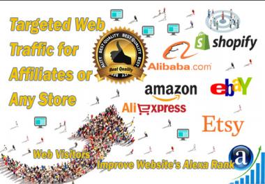 send traffic to affiliate links amqzon, ebay, aliexpress, sh0pify etc