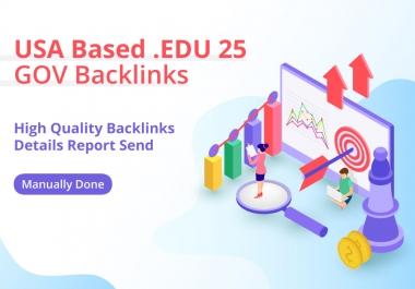 USA Based 25 EDU-GOV Profile Backlinks TOP NOTCH
