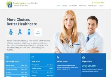 Create a Medical Clinic / Hospital / Dentist responsive Website