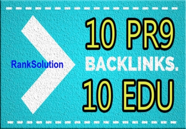 RankSolution_ 10 PR9 + 10 EDU-GOV SEO High Quality Backlinks