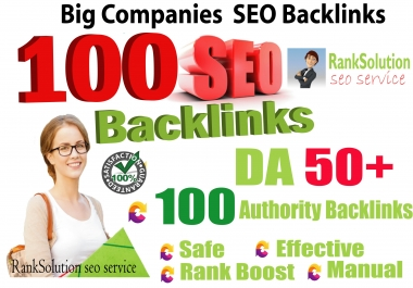Create 100+ Big Companies SEO Backlinks Increase your Google Ranking