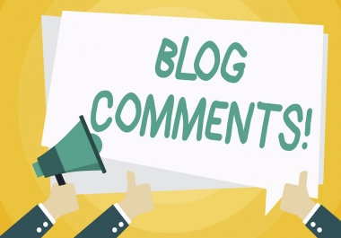 1,000 Natural Blog Comments SEO backlinks