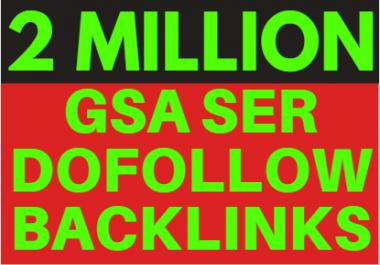 2M GSA ser Backlinks, Ranking your website