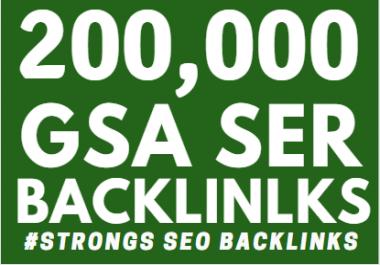 200k GSA Backlinks ranking your website