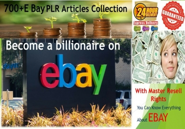 I will give 700+ All about Ebay Selling PLR Articles