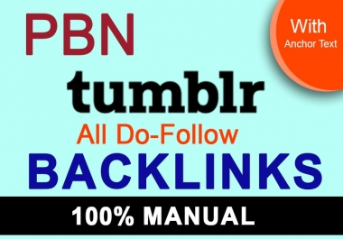I will create 60 tumblr pbn permanent dofollow SEO backlinks