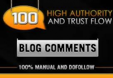 100 Manually Dofollow blog comments Backlinks Actual Page Rank Pr6 To Pr2