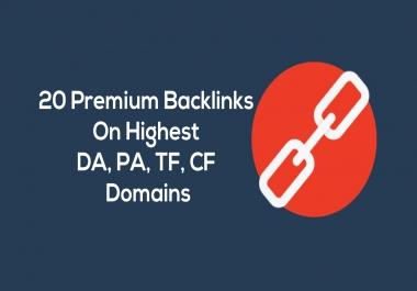 30 Premium Backlinks DA90+ Highest TF, CF SEO Link Building