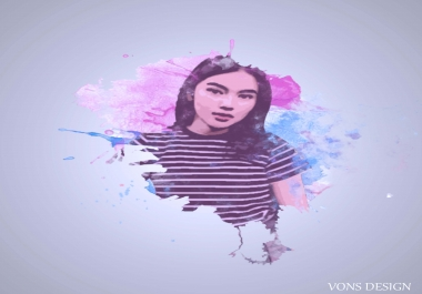 manipulate your photo with splash effect