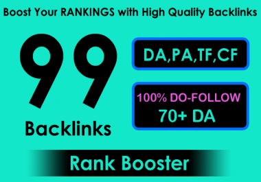I will create 99 quality SEO backlinks for link building