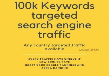 100K keywords targeted search Engine Traffic