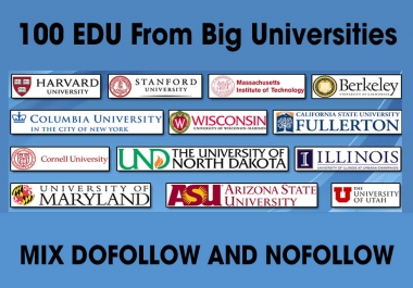100 EDU Backlinks From Big Universities Private Network