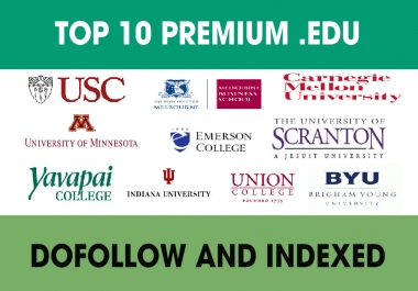 Top 10 Premium GuestPost .Edu High Quality DoFoIIow