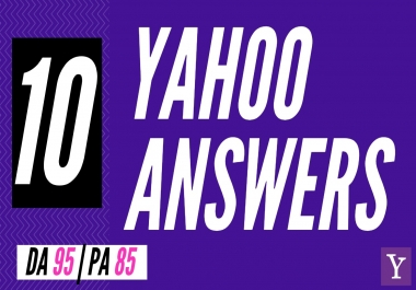 Promote your Website in 10 Yahoo Answers using clickable link