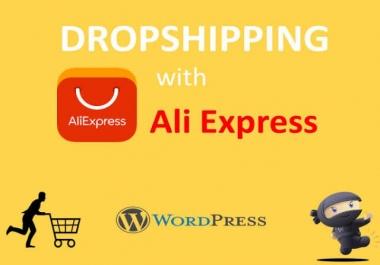 I will do Dropshipping AliExpress Wordpress eCommerce online shop