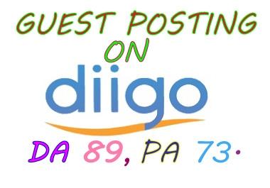 I will write your article and publish a guest post on diigo.com or Diigo