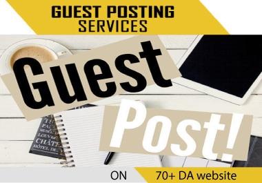 I will publish 15 guest post backlink on 70+ DA website