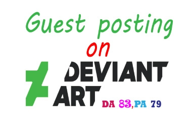 I will write & published a guest post backlink on Deviantart.com