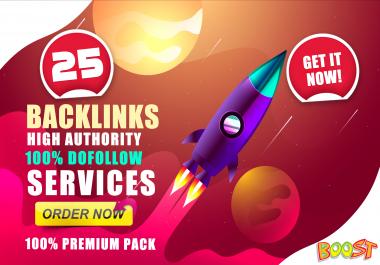 Manually Do 25+ DA 90+ Dofollow High Authority SEO Backlinks