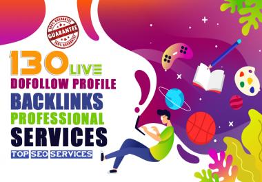 Manually Create 130 dofollow profile backlink da up to 90 plus