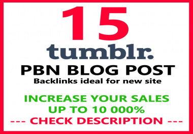 15 PBN Permanent Backlinks High quality On DA 98 PA 30+ Tumblr to Improve SEO and Boost Google Rank