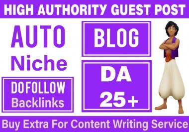 Instant Post on my Auto Blog DA 25+