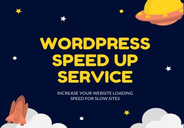 Wordpress speed optimizer in 24 hours