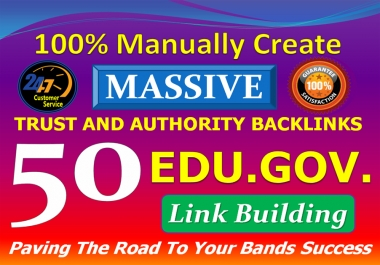I will provide High Quality 30 Dofollow & 20 Edu.Gov Link building SEO Authority Profile Backlinks