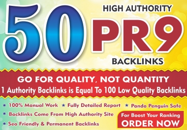 I will best rank your website with High Quality 50 Pr9 dofollow profile link building seo backlinks