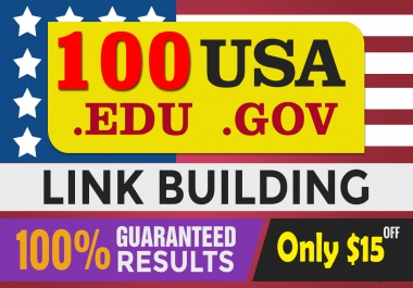 Top google ranking with 100 USA Pr9 from high quality Edu.Gov SEO Profiles Backlinks, link building