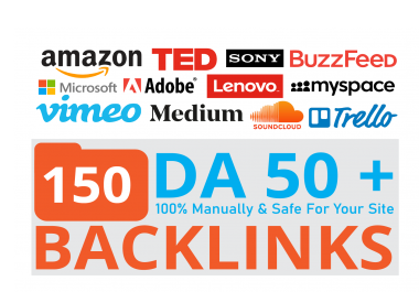 150 Big Brand Companies Backlinks Give Your Site HUGE Boost With DA 100 To 50
