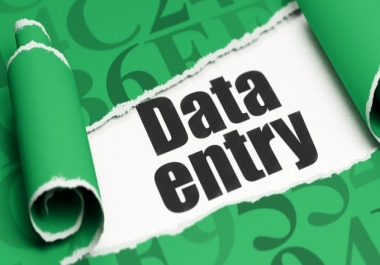 I will do data entry,excel data entry,copy paste and web research