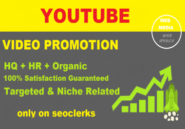 Get Real & organic YouTube Video Promotion