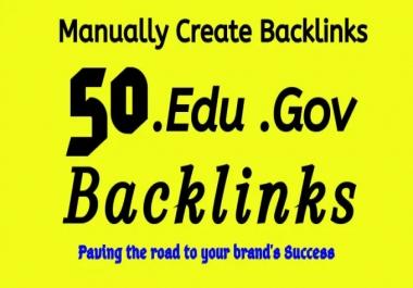 I will add 50 pr9 and edu,gov high trust authority safe SEO link building backlinks