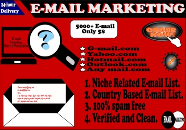 Get 2000 email list for your targeted audience
