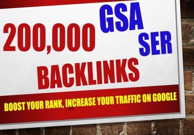 200,000 GSA SER Ranking Backlinks Wesite SEO