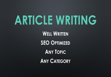 Get SEO Optimized Articles or Blog Contents
