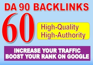 Built 60 Manual BackIinks on DA 90 sites