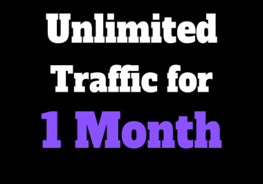 Unlimited Traffic to Your Website for One Month