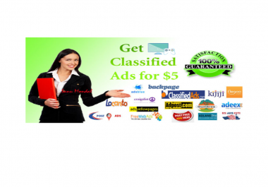 I will classified ad post in HQ dapa sites for all countries 30 post