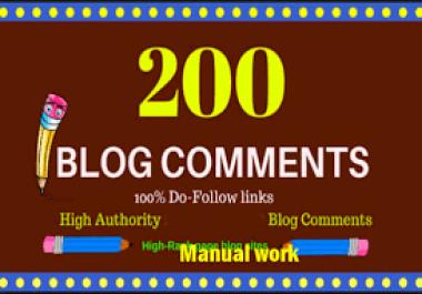 i will do 200 dofollow blogcomment high backlinks