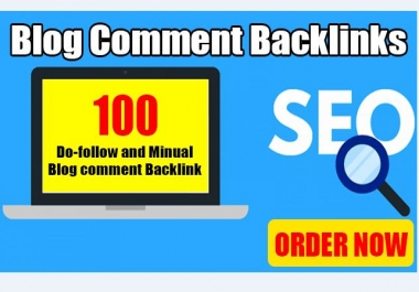 I will do manually 100 blog comment backlinks