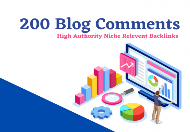 I will create 200 niche relevant nofollow blog comments backlinks