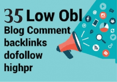 I will do 35 dofollow low obl blog comment