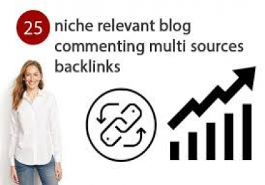 I will create 25 niche relevant blog comments backlinks
